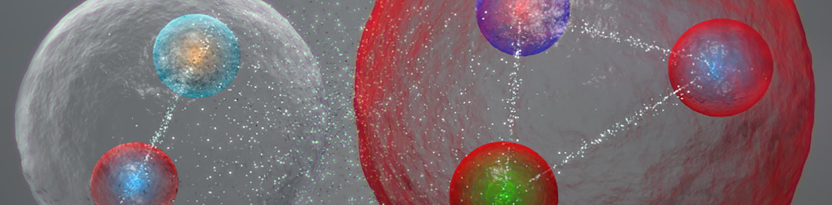 QCD, interacción fuerte, fuerza nuclear fuerte, pentaquark, quark, física hadrónica,