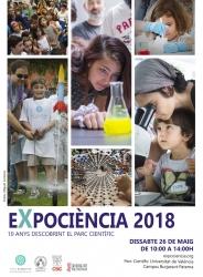 cartel Expociencia 2018 feria de la ciencia