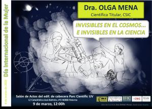 Día Internacional Mujer 2020, IFIC, Olga Mena, Invisibles en el Cosmos, materia oscura, neutrinos,